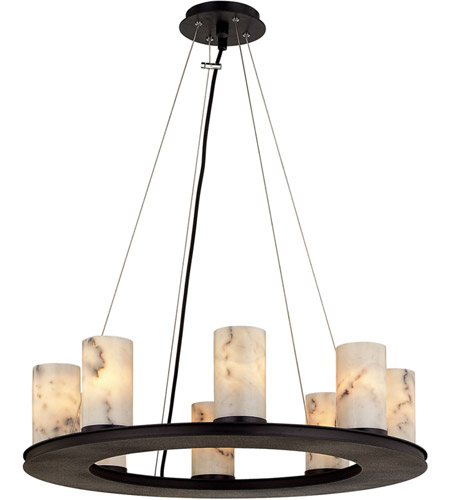 Troy Lighting F6606 Catalonia 8 Light 25 inch Textured Black Pendant Ceiling Light photo