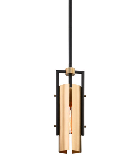 Troy Lighting F6783 Emerson 1 Light 5 inch Carbide Black Pendant Ceiling Light photo