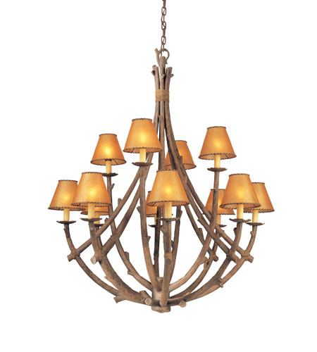 Troy Lighting Cheyenne 12 Light Chandelier in Hickory F8812HK photo