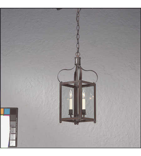 Troy Lighting F8920CI Bradford 2 Light 11 inch Charred Iron Hanging Lantern Ceiling Light in Clear photo