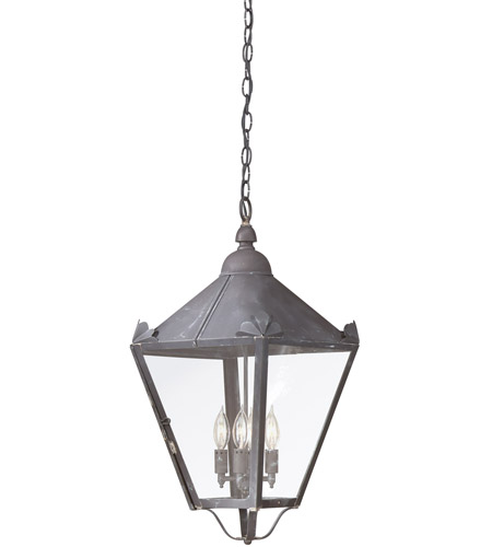Troy Lighting F8948CI Preston 4 Light 13 inch Charred Iron Outdoor Hanging Lantern in Clear photo