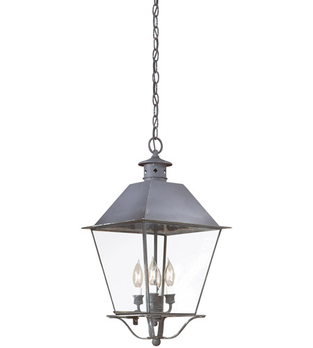 Troy Lighting F9139CI Montgomery 4 Light 12 inch Charred Iron Outdoor Hanging Lantern in Clear photo