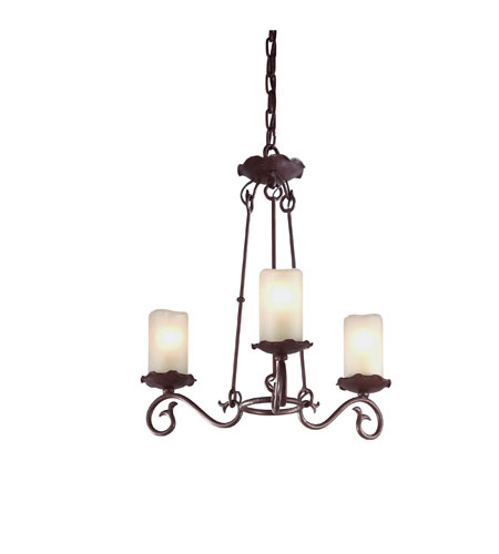 Troy Lighting Provence 3 Light Chandelier in Old Rust F9193OR photo