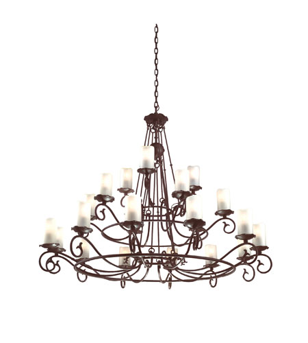 Troy Lighting Provence 21 Light Chandelier in Old Rust F9197OR photo