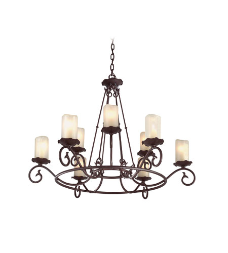 Troy Lighting Provence 9 Light Chandelier in Old Rust F9199OR photo