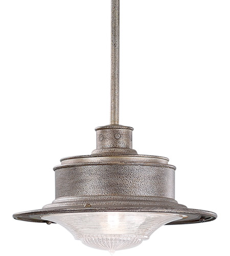 Troy Lighting South Street 1 Light Outdoor Hanging Downlight in Old Galvanize F9396OG photo