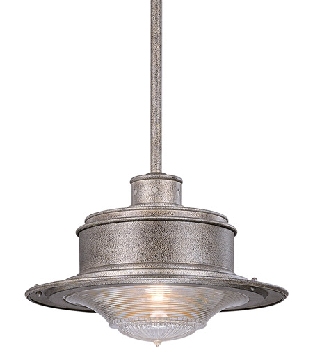 Troy Lighting South Street 1 Light Outdoor Hanging Downlight in Old Galvanize F9397OG photo