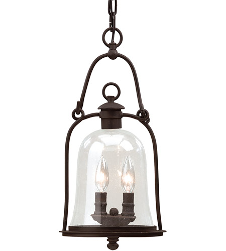 Troy Lighting F9466NB Owings Mill 2 Light 9 inch Natural Bronze Outdoor Hanging Lantern photo