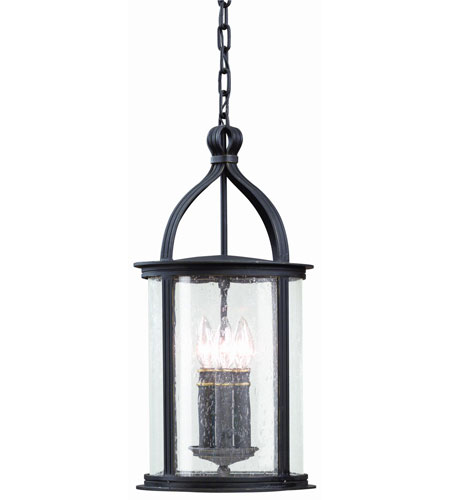 Troy Lighting F9476FBK Scarsdale 3 Light 10 inch Forged Black Outdoor Hanging Lantern photo