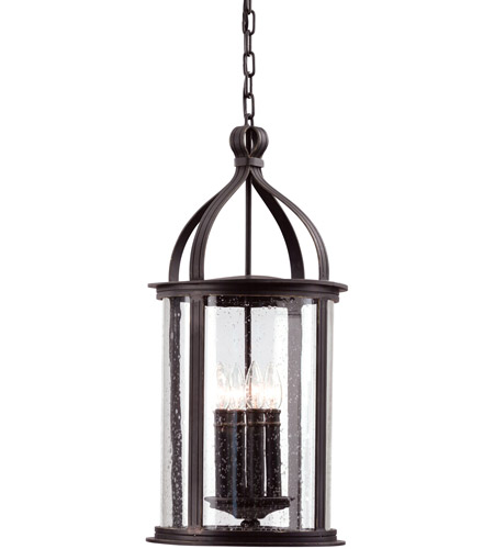 Troy Lighting F9477FBK Scarsdale 4 Light 12 inch Forged Black Outdoor Hanging Lantern photo