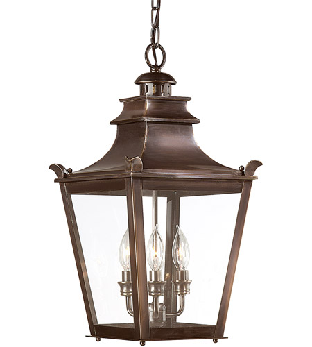 Troy Lighting Dorchester 3 Light Outdoor Hanging Lantern in English Bronze F9498EB photo
