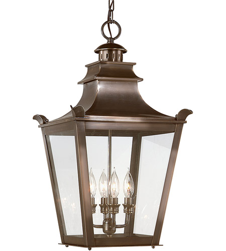 Troy Lighting F9499EB Dorchester 4 Light 14 inch English Bronze Outdoor Hanging Lantern photo