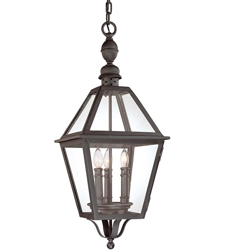 Troy Lighting F9627NB Townsend 3 Light 11 inch Natural Bronze Outdoor Hanging Lantern photo