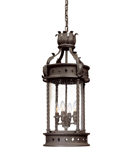 Troy Lighting F9635OBZ Los Feliz 4 Light 14 inch Old Bronze Outdoor Hanging Lantern photo