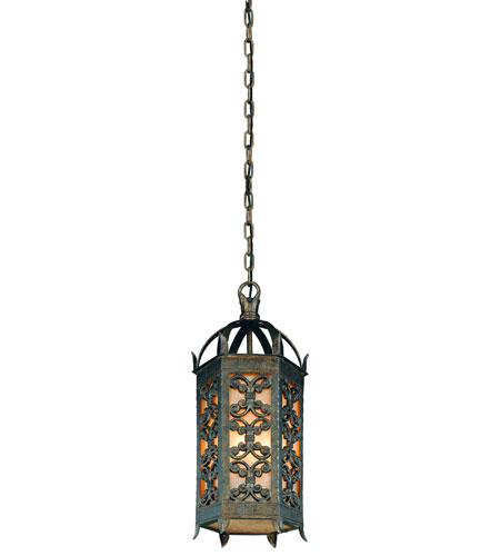 Troy Lighting Gables 3 Light Outdoor Hanging Lantern in Charred Gold F9907CG photo