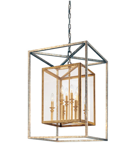 Troy Lighting Morgan 8 Light Entry Pendant in Gold Silver Leaf F9998GSL photo