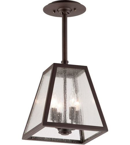 Troy Lighting Amherst 4 Light Outdoor Hanger in River Valley Rust with Coastal Finish FCD3437-C photo