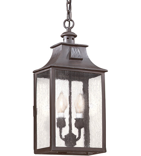 Troy Lighting FCD9004OBZ Newton 2 Light 9 inch Old Bronze Outdoor Hanging Lantern in Incandescent photo