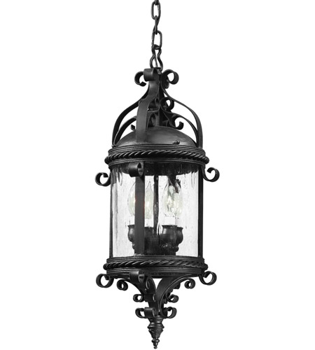 Troy Lighting Pamplona 4 Light Outdoor Hanging Lantern in Old Bronze FCD9124OBZ photo