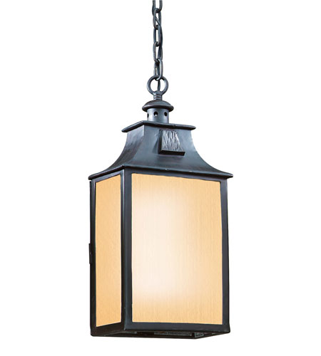 Troy Lighting FF9004OBZ Newton 1 Light 9 inch Old Bronze Outdoor Hanging Lantern in Fluorescent photo