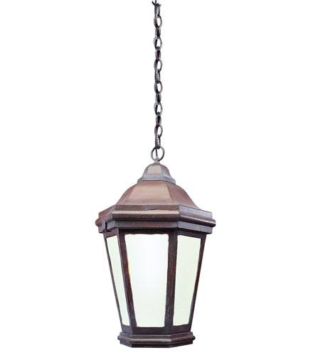 Troy Lighting Verona 1 Light Outdoor Hanging Lantern Fluorescent in Bronze Patina FFCD6895BZP photo