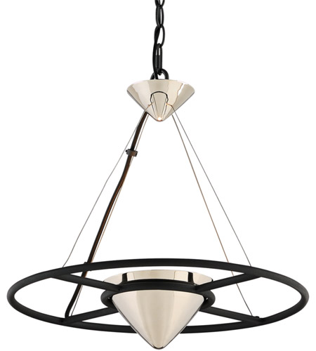 Troy Lighting FL4815 Zero Gravity LED 18 inch Carbide Black and Polished Nickel Pendant Ceiling Light photo