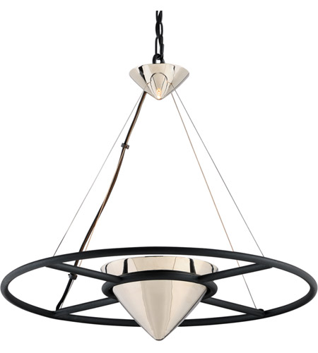 Troy Lighting FL4816 Zero Gravity LED 25 inch Carbide Black and Polished Nickel Pendant Ceiling Light photo