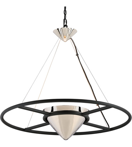 Troy Lighting FL4817 Zero Gravity LED 32 inch Carbide Black and Polished Nickel Pendant Ceiling Light photo