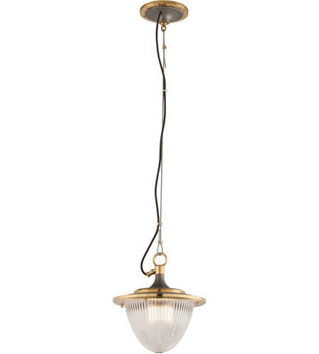 Troy Lighting F4703 Fly Boy 1 Light 13 inch Bronze with Brass Mini-Pendant Ceiling Light photo