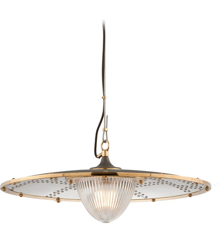 Troy Lighting F4706 Fly Boy 1 Light 26 inch Bronze with Brass Pendant Ceiling Light photo
