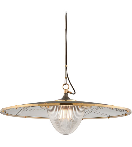 Troy Lighting F4707 Fly Boy 1 Light 32 inch Bronze with Brass Pendant Ceiling Light photo