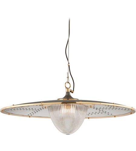 Troy Lighting F4708 Fly Boy 1 Light 40 inch Bronze with Brass Pendant Ceiling Light photo
