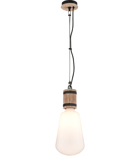Troy Lighting F4552 Fulton 1 Light 10 inch Rusty Iron with Salvaged Wood Pendant Ceiling Light photo
