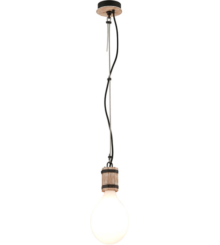 Troy Lighting F4554 Fulton 1 Light 7 inch Rusty Iron with Salvaged Wood Pendant Ceiling Light photo