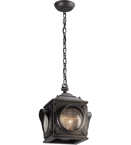 Troy Lighting F4507 Main Street 2 Light 11 inch Aged Pewter Outdoor Hanging Lantern in Incandescent photo