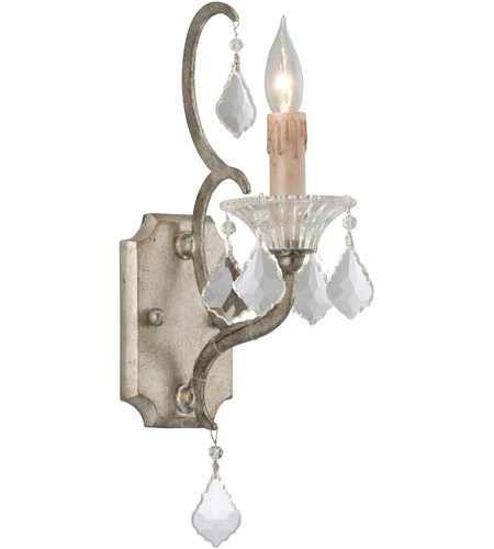 Troy Lighting B4571 Montparnasse 1 Light 5 inch Silver Leaf Wall Sconce Wall Light photo