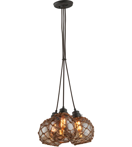 Troy Lighting F4754 Outer Banks 3 Light 17 inch Shipyard Bronze Pendant Ceiling Light photo