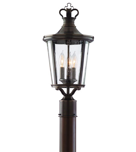 Troy Lighting Britannia 3 Light Post Lantern in English Bronze P1384EB photo