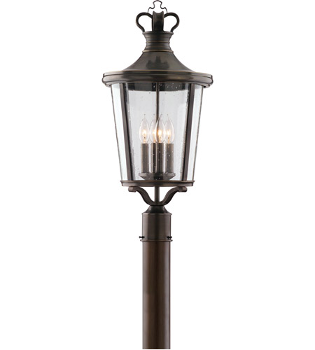 Troy Lighting Britannia 4 Light Post Lantern in English Bronze P1385EB photo
