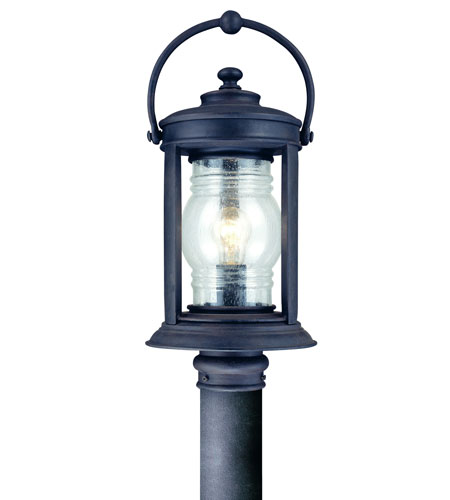 Troy Lighting Station Square 1 Light Post Lantern in Natural Rust P1414NR photo
