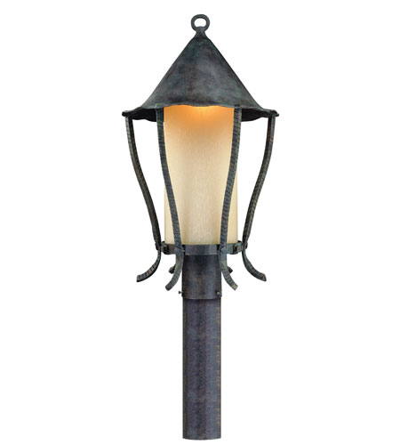 Troy Lighting P1425VA Nottingham 1 Light 22 inch Vert Antique Outdoor Post Lantern photo