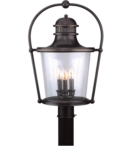 Troy Lighting P2036EB Guild Hall 3 Light 16 inch English Bronze Post Lantern photo
