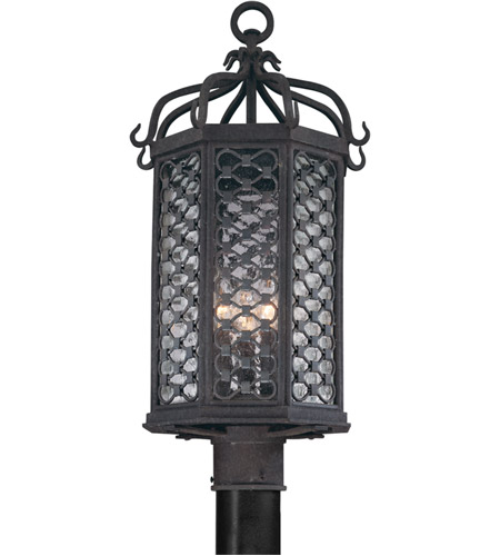 Troy Lighting P2375OI Los Olivos 3 Light 23 inch Old Iron Post in Incandescent photo