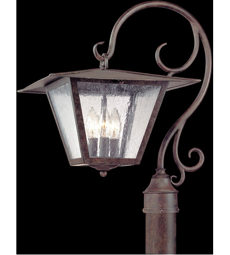 Troy Lighting Potter 3 Light Post in Fired Iron P2955 photo