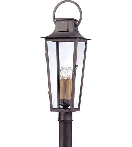 Troy Lighting French Quarter 4 Light Post in Aged Pewter P2965 photo