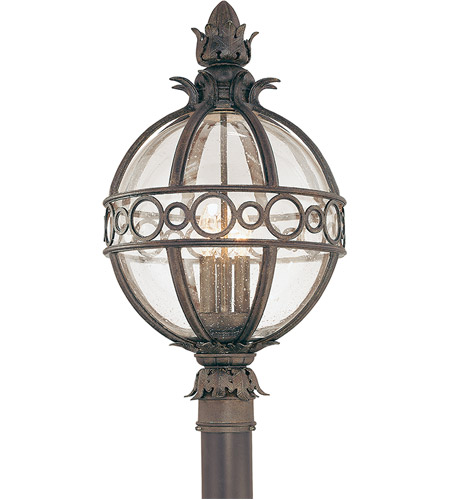 Troy Lighting P5006CB Campanile 3 Light 24 inch Campanile Bronze Post Lantern photo