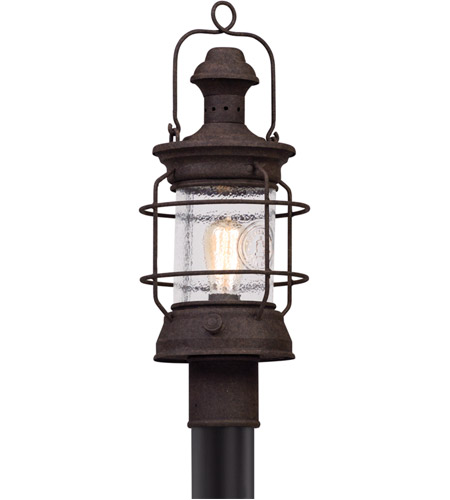 Troy Lighting P5055 Atkins 1 Light 21 inch Centennial Rust Post Mount photo