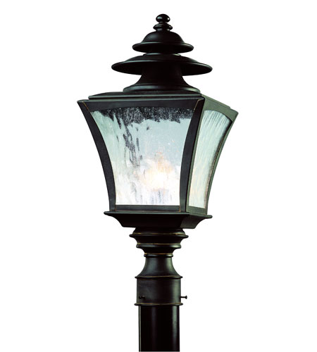 Troy Lighting Jefferson 1 Light Outdoor Post Lantern in Colonial Rust P5066CR photo