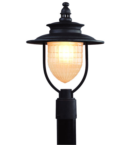 Troy Lighting Quincy 1 Light Outdoor Post Lantern in Statuary Bronze P5085SBZ photo