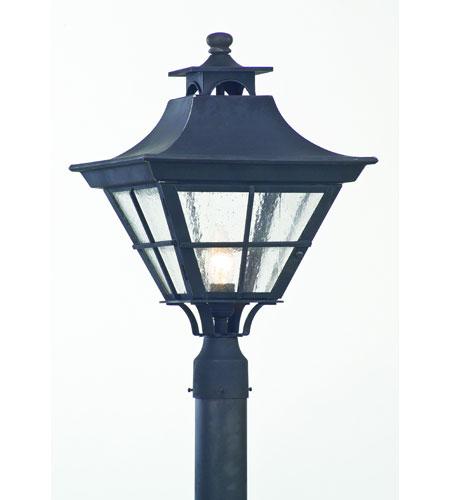 Troy Lighting Rockingham 1 Light Outdoor Post Lantern In Charred Iron P6046ci